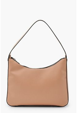 Powder pink pink Pu Underarm Shoulder Bag