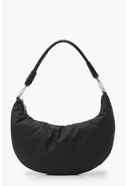 Black Nylon Under Arm Shoulder Bag