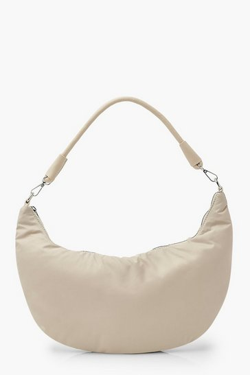 Cream Nylon Under Arm Shoulder Bag