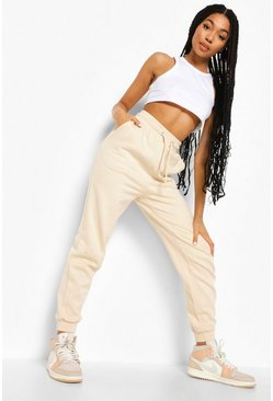 Stone beige The Basic Loopback Joggers