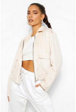Rose Jumbo Cord Cropped Jacket