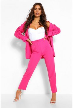 Hot pink Tapered Trousers