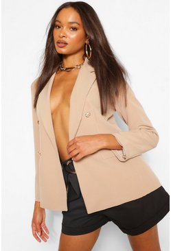 Stone Button Detail Blazer