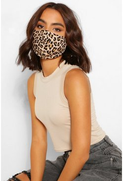 Stone Leopard Fashion Face Mask