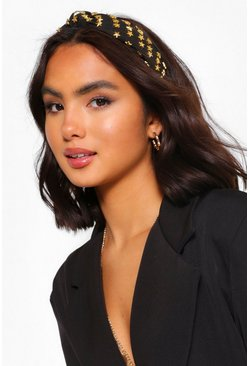 Black Embellished Star Headband