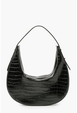 Black Moon Shape Shoulder Day Bag