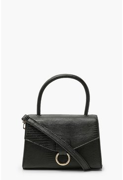 Black Lizard Pu Envelope Grab Bag