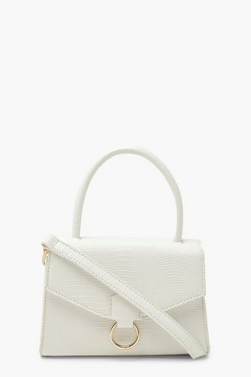 White Lizard Pu Envelope Grab Bag
