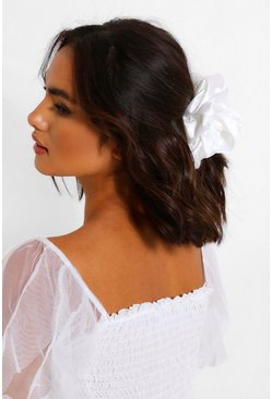 Ivory white Oversized Supersoft Hair Protect Scrunchie