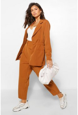 Oversized Blazer & Wide Leg Suit Set