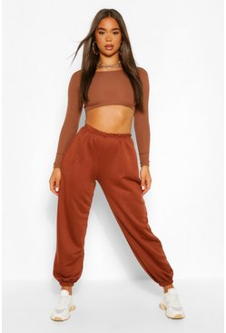 Chocolate brown The Oversized Boyfriend Sweat Jogger