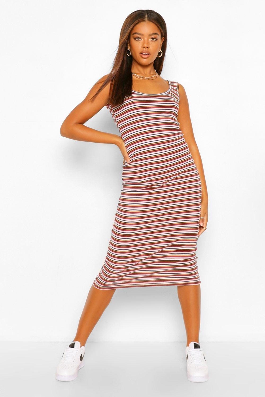 DRESSES Rib Striped Vest Dress