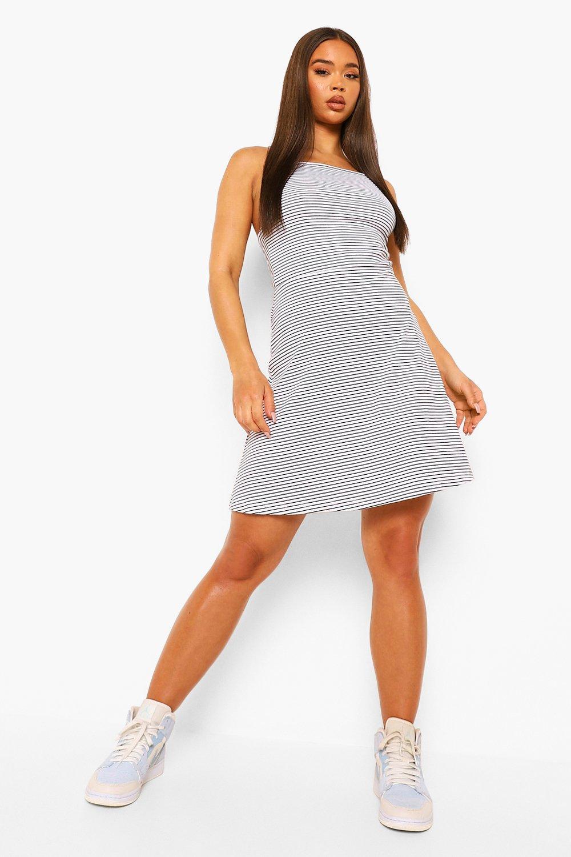 DRESSES Square Neck Strappy Mini Dress