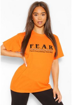 Orange F.E.A.R Graphic T-Shirt