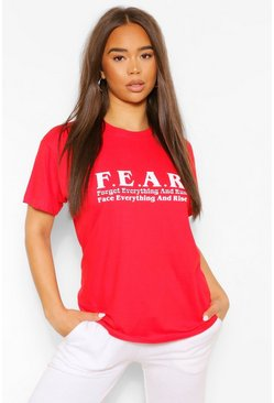 Red F.E.A.R Graphic T-Shirt
