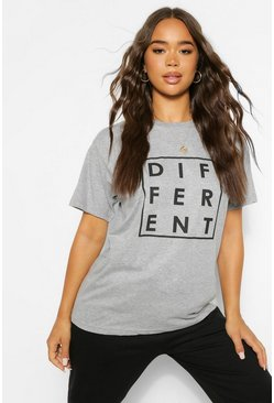 Grey Different Graphic T-Shirt