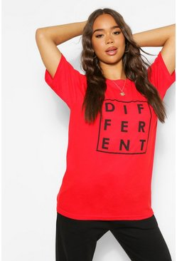 Red Different Graphic T-Shirt