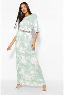 The Oversized Tie Dye Maxi , Sage