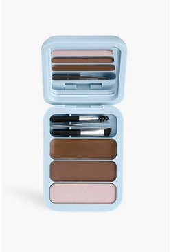 Kit de cejas Makeup Obsession Light-Med Brown, Multicolor