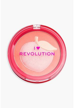 Multi I Heart Revolution Fruity Blusher Rouge - Peach