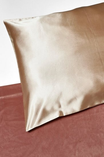 Champagne beige Satin Super Soft Hair Protect Pillowcase