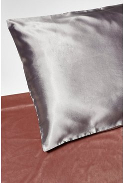 Grey Satin Super Soft Hair Protect Pillowcase