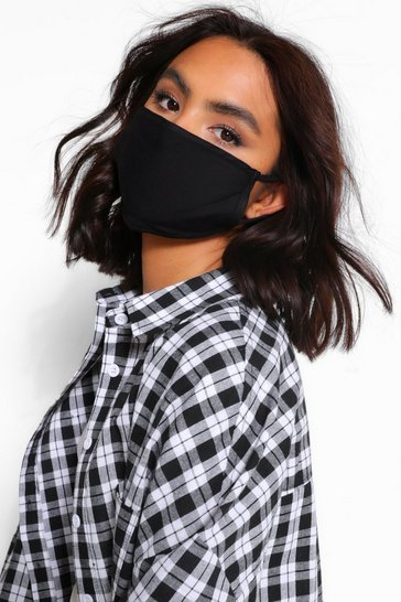 Black Mixed Fashion Face Mask 3 Pack