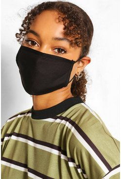Black Mixed Colour Fashion Mask 3 Pack