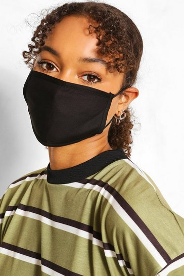 Black 3 Pack Mixed Fashion Masks