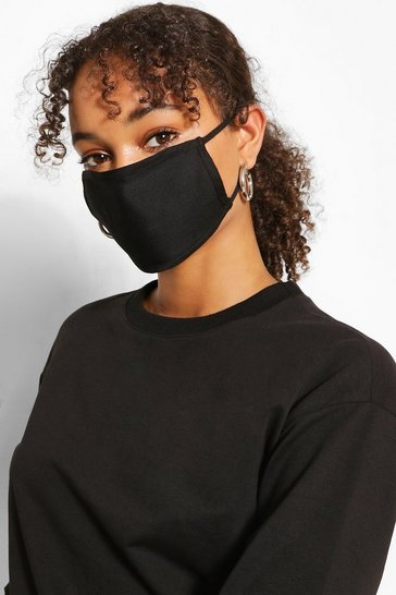 Black 3 Pack Fashion Mask Mixed Pack