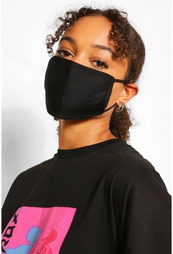 Black Mixed Print Fashion Mask 3 Pack