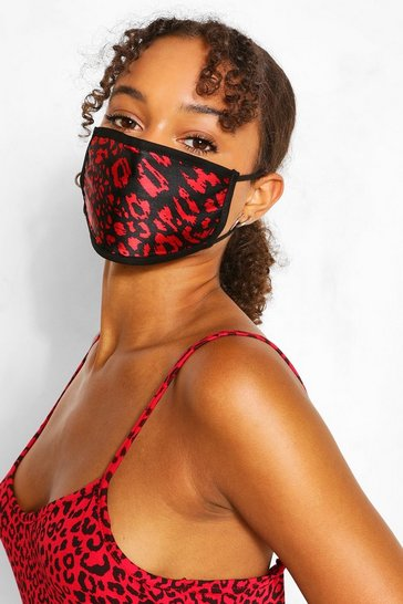 Black Mixed Print Fashion Face Mask 3 Pack