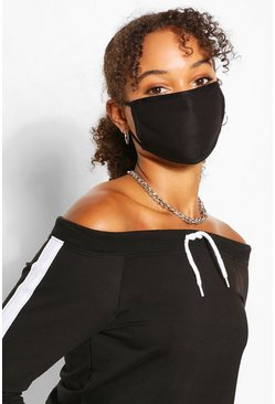 Black Mixed Colour Fashion Mask 4 Pack