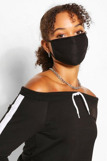 Black 4 Pack Fashion Mask Mixed Pack