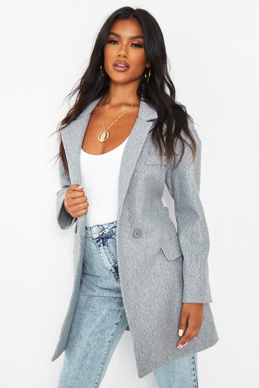 COATS & JACKETS Belted Wool Look Blazer