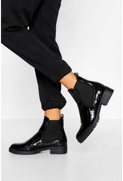 Black Stud Detail Chelsea Boot
