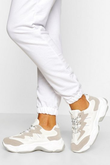 White Chunky Sports Trainer