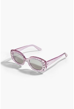 Pink Diamante Fashion Glasses