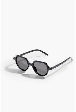 Black Rounded Edge Sunglasses