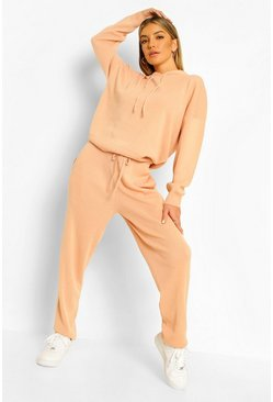 Peach orange Knitted Tracksuit