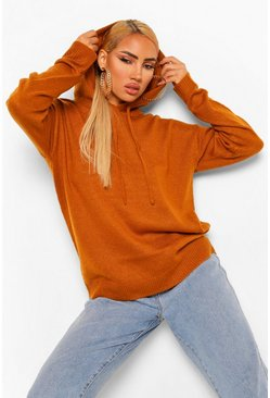 Spice orange Knitted Hoody