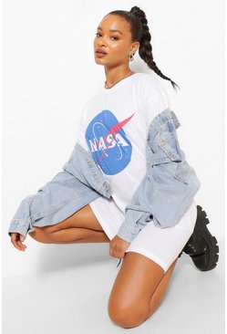 White Nasa Logo T Shirt Dress