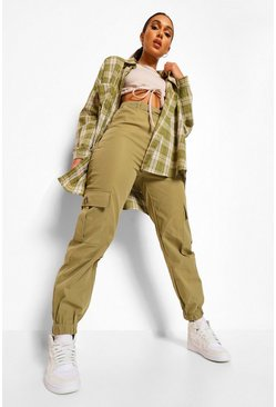 Khaki Relaxed Cargo Trousers