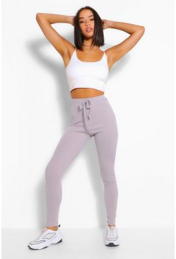 Ice Ribbed Jersey Tie Waist Legging