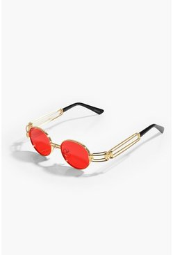 Orange Coloured Lens Fashion Glasses