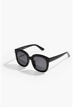 Black Simple Oversized Square Glasses