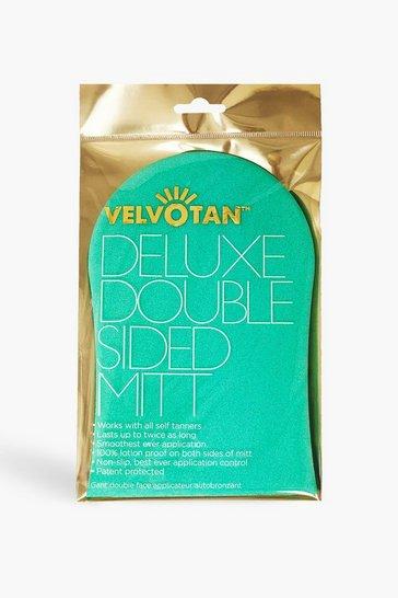 Turquoise blue Velvotan Deluxe Double Sided Mitt