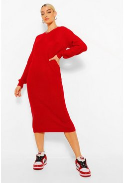 Berry Fisherman Midi Dress