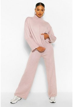 Mink Oversized Premium Wide Leg Trouser Co-Ord