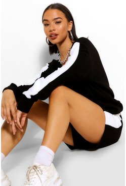 Black Side Stripe Knitted Co-Ord